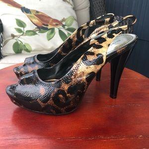 Style & Co NWOB Jackee Animal Print Platform Heels